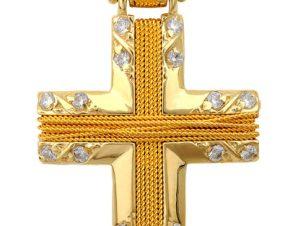 Σταυρός 14Κ Χρυσός SVK2058