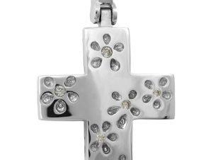 Σταυρός 14Κ από Λευκόχρυσο SVK2488