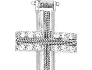 Σταυρός 14Κ από Λευκόχρυσο SVK42