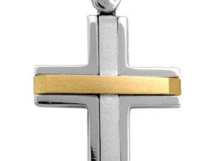 Σταυρός 14Κ από Χρυσό και Λευκόχρυσο SVA2225