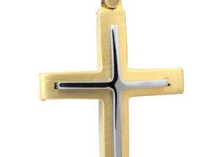 Σταυρός 14Κ από Χρυσό και Λευκόχρυσο SVA2512