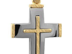 Σταυρός 14Κ από Χρυσό και Λευκόχρυσο SVA2518