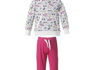 Φόρμα παντελόνι φούτερ και μπλούζα με κουκούλα και εμπριμέ μοτίβο 15-118340-0 – ΦΟΥΞ – 5461-21/12/297/109
