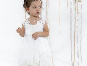 """Baby u Rock Βαπτιστικό Φόρεμα """"Fiamma"""" 22002G07AAC"""