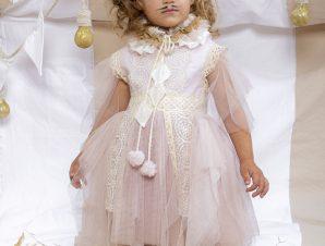 "Baby u Rock Βαπτιστικό Φόρεμα ""Coco"" 22002G14AAC"