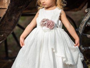 Vinte Li Φόρεμα Βάπτισης Ιβουάρ 2907