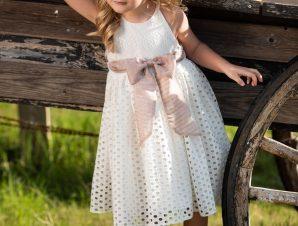 Vinte Li Φόρεμα Βάπτισης Εκρού 2917