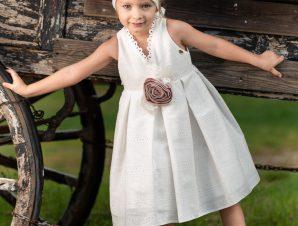 Vinte Li Φόρεμα Βάπτισης Ιβουάρ 2920