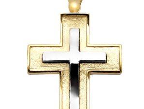 Σταυρός 14Κ από Χρυσό και Λευκόχρυσο SIO51312