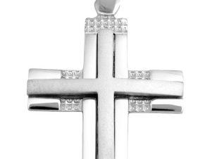 Σταυρός 14Κ από Λευκόχρυσο SIO52411