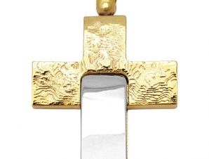 Σταυρός 14Κ από Χρυσό και Λευκόχρυσο SIO53612