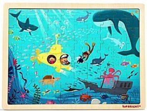 Ξύλινο παζλ Underwater World – Top bright 100 τεμ.