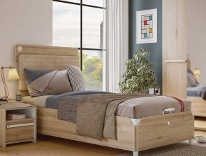Παιδικό κρεβάτι ημίδιπλο με αποθηκευτικό χώρο D-1707 USB CHARGING