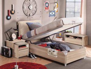 Παιδικό κρεβάτι με αποθηκευτικό χώρο D-1705 USB CHARGING