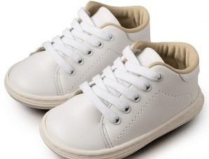Babywalker Basic Sneakers Λευκά BS3030
