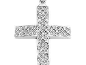 Σταυρός από Χρυσό 14Κ με πέτρες SIO11975