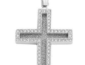 Σταυρός από Χρυσό 14Κ με πέτρες SIO12344