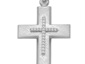 Σταυρός από Χρυσό 14Κ με πέτρες SIO13789