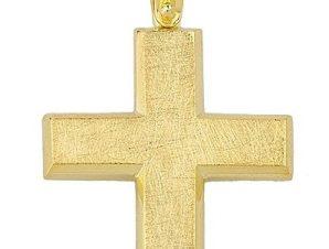 Σταυρός από Χρυσό 14Κ Χειροποίητος SIO15227